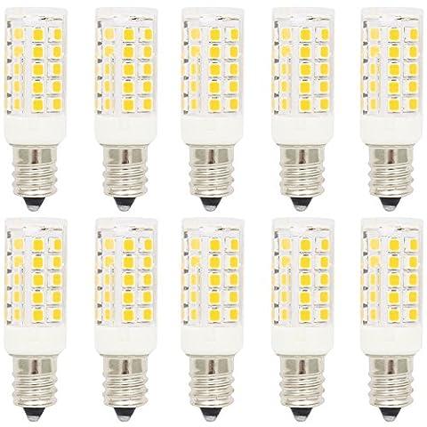 10X E12 Ampoule Lampe 5W Lampe Bulb 44 SMD 2835LEDs Blanc Chaud 3000K Super Brillant 400LM Lampe à LED AC220-240V