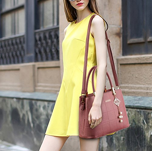 DonnaBangalor Nuovo Spiraea PU Europa E Stati Uniti Borse Moda Cartella Inviare Pendente Borsa Pink