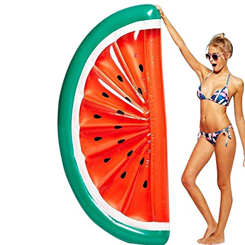 Gigante gonfiabile piscina galleggiante giocattolo estate per bambini e adulti giocattolo zattera materassino per festa in valvole rapide lettini (anguria)