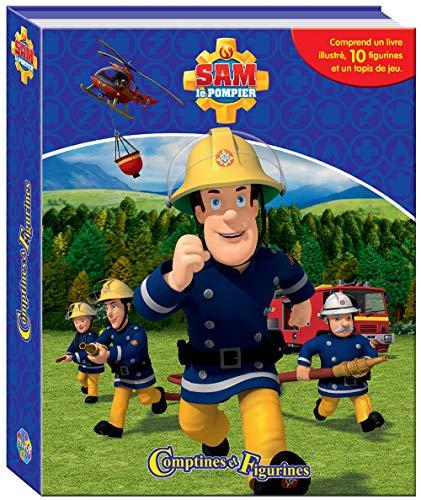 Sam Le Pompier Comptines Et Figurines - Coffret Livre Avec 12 Figurines + Tapis De Jeu