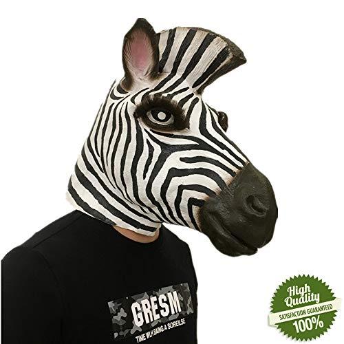 Morbuy Interessant Halloween Maske, Neuheit Erwachsene Latex Tier Masken Perfekt für Fasching Karneval Kostüm Weihnachten Halloween Cosplay Kostüme Für Männer und Frauen ()
