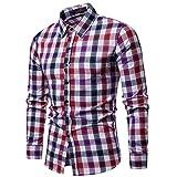 BaZhaHei Herren Hemd kariert Herren Vintage Holzfällerhemd Karo-Hemd Slim Fit Trachtenhemd Super Modern Super QualitätLangarm Shirt Tops Langarmshirts