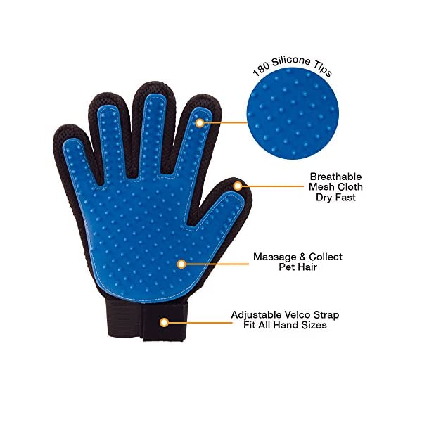 Allstar Innovations True Touch Five Finger Deshedding Glove- Premium Version, Great for Cats & Dogs- Includes 1 Authentic True Touch Glove 1 Lint Roller- As Seen on TV 3