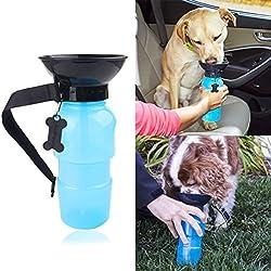 Kingnew Portable Hund Wasserflasche, Aqua Hund Wasserflasche Becher Reise für Katzenwelpe Hydratisiert unterwegs (Bule)