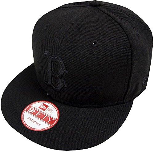 New Era MLB Boston Red Sox Black On Black Snapback Cap 9fifty Limited Edition