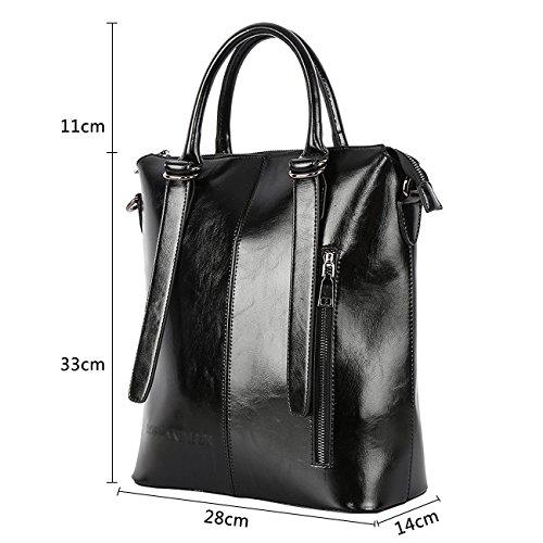 Tasche Damen,SPSHENG Fashion Designerhandtasche Fashion Frauenhandtasche mit Griff oben Blau Schwarz