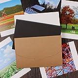 Farway Vintage blanko Papier Umschlag Postkarte Grußkarte, Verpackung Schreibwaren Schulbedarf, braun, 30PCS