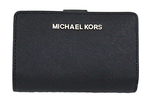 MICHAEL Michael Kors Jet Set Travel Bifold Zip Coin Wallet (Black) -