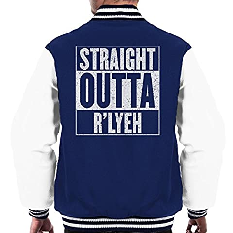 Straight Outta Rlyeh Call of Cthulhu Men's Varsity Jacket