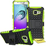 FoneExpert® Samsung Galaxy A5 (2016) - Etui Housse Coque ShockProof Robuste Impact Armure Hybride Béquille Cover pour Samsung Galaxy A5 (2016) + Film de Protection d'Ecran (Vert)
