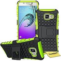 FoneExpert® Samsung Galaxy A3 (2016) - Etui Housse Coque ShockProof Robuste Impact Armure Hybride Béquille Cover pour Samsung Galaxy A3 (2016) + Film de Protection d'Ecran (Vert)