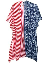 David & Young Women's American Flag Stars and Stripes Wrap