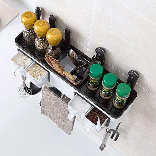 ZXT an der Wand befestigtes Gewürzglasgewürzflaschenregal stellte Hauptküchenlagergestell ein (Asche Bücherregal)