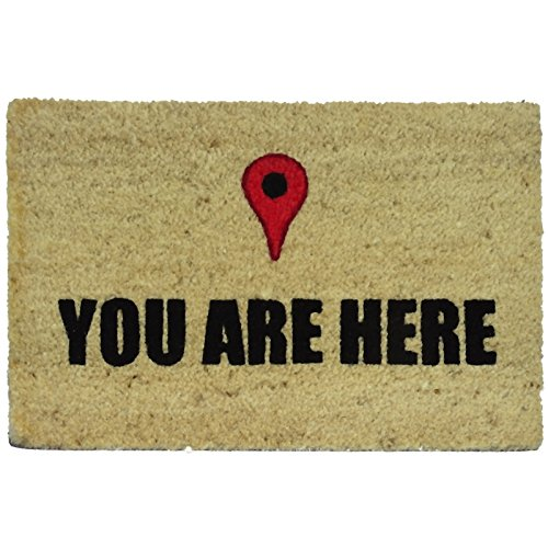 Felpudos Originales  con Diseño You Are Here, PVC, Coco, 60 x 40 cm