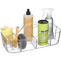 mDesign cesta organizadora con 11 compartimentos ideal para almacenar sus cosas para el hogar - Caja