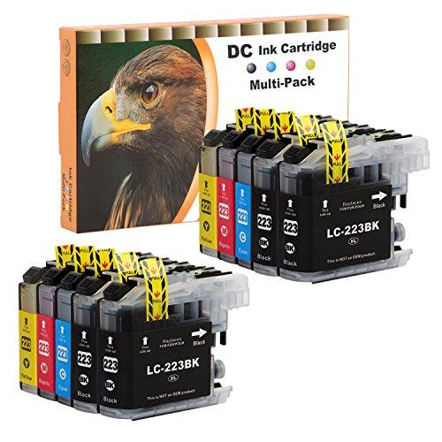 D&C 10 Set Druckerpatronen Tintenpatrone komp. für Brother LC-221 LC-223 DCP J4120 DWG,J562 DW,MFC J4420 DW,J4620 DW,J4625 DW,J480 DW,J5320 DW,J5620 DW,J5625, J5720 DW,J680 DW,J880 DW mit Chip