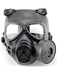 WorldShopping4U Dummy Anti Fog Gas Face Mask M04 w Turbo Fan Airsoft paintbal protection des engins