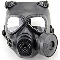 worldsho pping4u Dummy Anti-Fog Máscara de gas M04 W Turbo Fan Airsoft paintbal de equipo de protección negro
