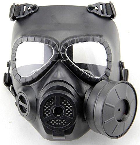 WorldShopping4U Dummy Anti Fog Gas Face Mask M04 w Turbo Fan Airsoft paintbal protection des engins (Black)