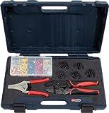 KS Tools 115.1400 Serie di Utensili a Crimpare Universali con Pinza Spelafili Automatica, 8 Pezzi