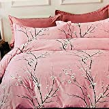 Refinish Home Vintage Balestra Collection Pink,Black,White Colour Poly Cotton 120x120 In. (300x300cm)(10ft By 10ft) Super King Size Flamboyant Double Bed Sheet With 2 Pillow Covers Under 2000
