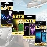 Caribi VIP Désodorisant, Parfum de luxe pour votre voiture Lot de 4parfums haut de gamme inspirés des parfums les plus chers du monde...