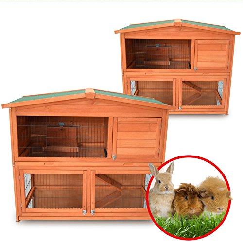 Zooprimus Kaninchenstall 21 Hasenkäfig – HASENHAUS-XL – Stall für Außenbereich (GRÖßE: (XL)   für Kleintiere: Hasen, Kaninchen, Meerschweinchen usw.) - 5