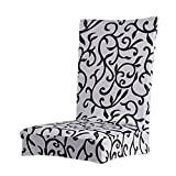 Imported Paddy Stretch Short Removable Dining Room Stool Chair Cover Slipcovers Grey