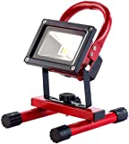 PEARL Baustrahler Akku: LED-Fluter mit Metallgehäuse, 10 W, IP65, 4.400-mAh-Akku (Aufladbare Akku-Baustrahler)