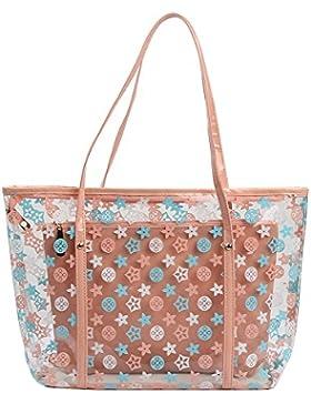 Zicac Einkaufstasche PVC Handtaschen Wasserdicht Schulter Beutel mit Kleinen Kosmetiktasche