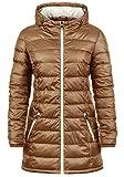 DESIRES Dori Damen Steppmantel Übergangsmantel Lange Jacke mit Kapuze, Größe:L, Farbe:Cinnamon (5056)
