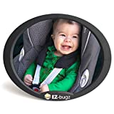 Babyspiegel Auto für Kindersitz & Babyschale, Autospiegel für Ihr Baby in der Reboarder zu beobachten, beste Qualität Rücksitzspiegel von EZ-Bugz (Farbe Schwarz)