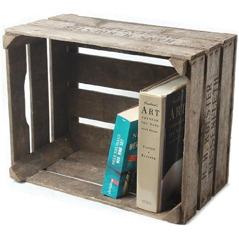 Originale cassetta per la frutta in legno massiccio naturale e mobili per la conservazione