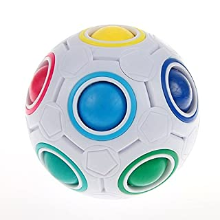 Topways® Yongjun Magic Rainbow Ball Puzzle Ball Cube Regenbogen Puzzle Zauberball für Kinder Erwachsene Magie Regenbogen Ball Puzzle Würfel Spielzeug