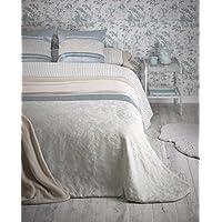 Colcha elegante modelo Linda tonos turquesa - cama 150 - medida 240x260