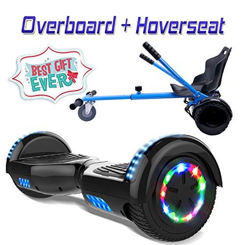 COLORWAY 6,5 Zoll Hover Scooter Board Elektro Scooter Smart Scooter Self Balance Board - Bluetooth - LED - EU Sicherheitsstandards + Hoverkart