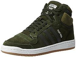 adidas Originals Mens Top Ten Hi Ngtcar and Olicar Leather Basketball Shoes - 10 UK/India (44 2/3 EU)