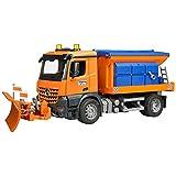BRUDER - 03685 - Camion chasse neige MB Arocs avec lame - Orange