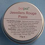 Traditional Jewellers Rouge Soft Paste - to Clean Polish & Restore - Gold Silver Brass Copper & Glass - Bolpol Rouge 15g