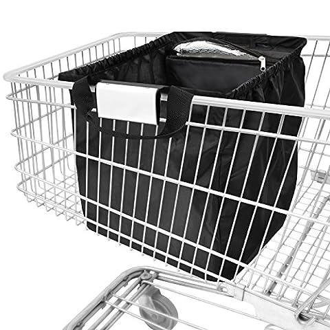 achilles®, Easy-Cooler Standard, AD102STbl, pliable sac chariot avec compartiment refroidisseur intégré, noir, 33 x 39 x 54 cm