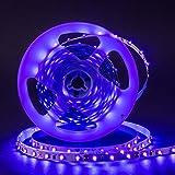 UV Schwarzlicht LED Streifen 5m,300 Stück SMD 3528 UV Licht,DC 12v Lichterkette LED Strip Streifen lila