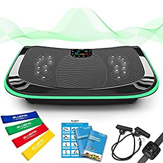 4D Vibrationsplatte - Leistungsstark mit 3 leisen Motoren | Leicht zu Bedienen | Magnetfeldtherapie Massage | Ultra Komfort - Curved Design | 4.0 Bluetooth Lautsprecher (Schwarz) (B07K4S3NKP) | Amazon price tracker / tracking, Amazon price history charts, Amazon price watches, Amazon price drop alerts