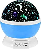 GosFrid Plastic Glass Rotating 4 Mode Sky Star Master Mini Projector Lamp