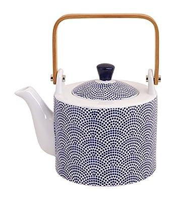 Tokyo Design Studio, Théière 0.8L + 4 tasse, Motif Nippon Blue