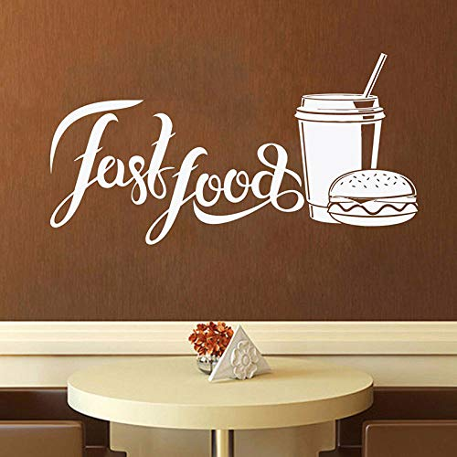 yiyiyaya Fast Food Wandtattoo Shop Logo Wandtattoo Backwaren Home Küche Wandtattoo Fensterdekor 42 * 79cm