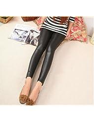 &zhou Doble capa no agrietados pies caliente polainas moda pantalones caliente tramo , black , one size