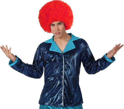 ATOSA 13291 Disco Jacke, Herren, Blau, Einheitsgröße (Veste Costume Bleu)