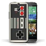 iCHOOSE Hülle / Hülle für HTC One/1 M8 / harter Plastikfall für Telefon / Collection Spielkonsolen / Klassisches Nintendo