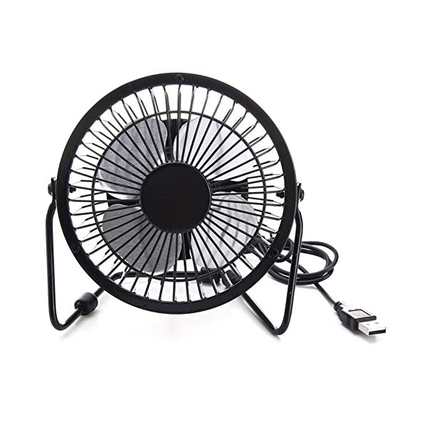 SODIAL High Quality 4 Inch Cooling Ventilation Fan USB Solar Powered Panel Iron Fan For Home Office Outdoor Traveling Fishing 4