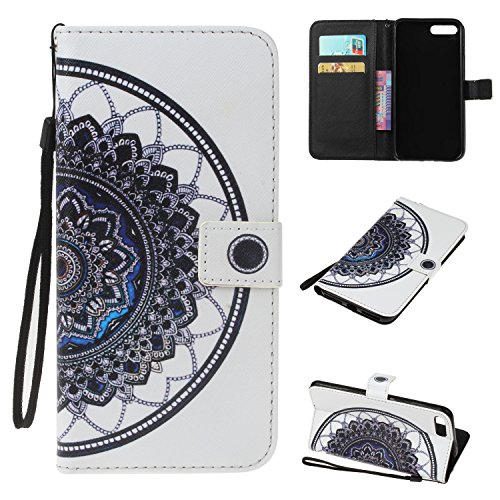 Price comparison product image iPhone 7 Plus Case,BONROY® iPhone 7 Plus (5,5 inch) Painting design PU Leather Phone Holster Case, Flip Folio Book Case, Wallet Cover with Stand Function, Card Slots Money Pouch Protective Leather Wallet Case for iPhone 7 Plus (5,5 inch)